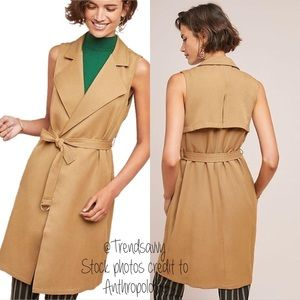 NWT ANTHROPOLOGIE French Mauve Sleeveless Trench